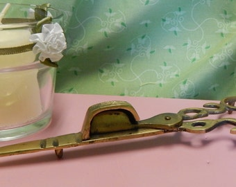 SALE.......Footed Brass Candle Wick Snuffer Trimmer Scissors made in Korea