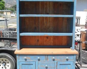 Reclaimed wood pine hutch.  USA made.