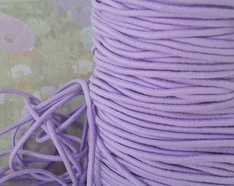 5yds Elastic Thin Bands 2mm  Stretch Cord String Headbands Wristbands light Purple thin stretch bands elastic cording exx