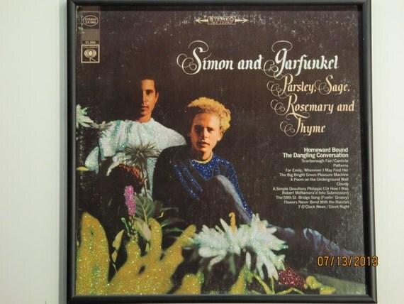 Glittered Record Album - Simon and Garfunkel - Parsley, Sage, Rosemary and Thyme