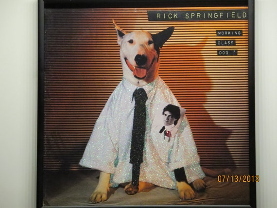 Glittered Record Album - Rick Springfield - Working Class Dog