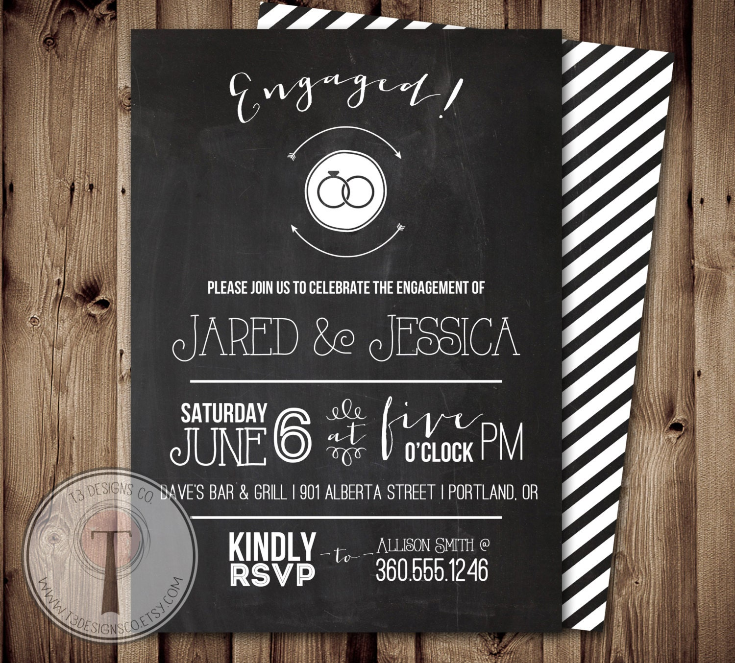 Chalkboard Engagement Party Invitation engagement party – Cheap Engagement Party Invites