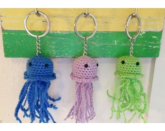 Crochet Jellyfish Keychain