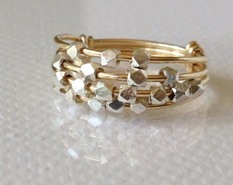Abacus Ring Of Sterling Silver On 14k Gold Fill
