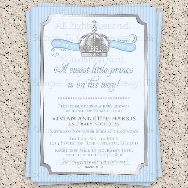 prince baby shower invitation little prince by invitationblvd