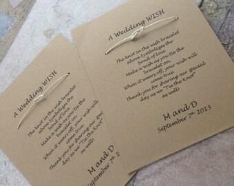 Super FLASH SALE Wishing Bracelet - Wedding Favor - Set of 50