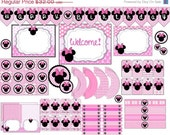 60% OFF 60 Percent OFF Minnie Mouse Instant Download Party Pack, Cupcake Toppers, Banners, Water Bottle Labels, Straw Flags, and much more