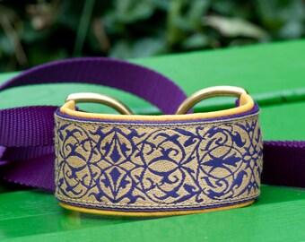 Purple and Gold Racing Slip Lead