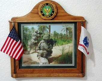 CUSTOM crafted Army PICTURE FRAMES