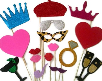 Photo Booth Props - Wedding photo booth props - Photobooth props - Photobooth Party - Birthday