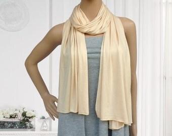 180x60cm beige jersey scarf muslim hijab fashion scarf