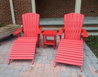 recycled plastic adirondack chairs
