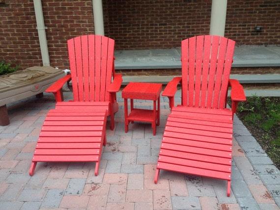 Recycled plastic adirondack chairs - Plastic adirondack footrest ...