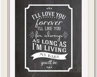 Chalkboard I'll Love You Forever Printable