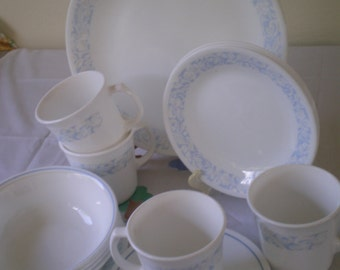 Vintage  CORELLE   SEA and SAND  Pattern Set of 14 Pieces** Epsteam