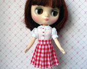 Pleated skirt and bodice for Middie Blythe. Creation Art'Co