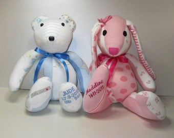 Any 2 Memory Pets!! Handmade Custom Memory Bear - Wonderful Memory Softie Keepsake