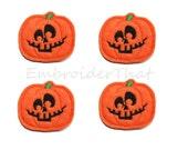UNCUT Jack O' Lantern Pumpkin felt applique embellishments (4)