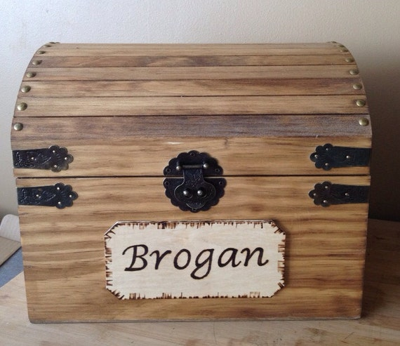 Kids Toy Chest - Wooden Chest - Keepsake Box - Memory Box - Baby and ...