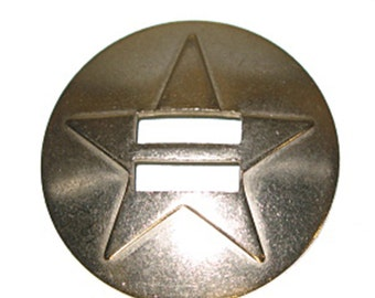 Star Slotted Saddle Concho Stainless Steel