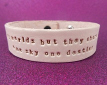 """Kingdom Hearts - Leather Bracelet - """"There are many worlds, but they all share one sky..."""""""