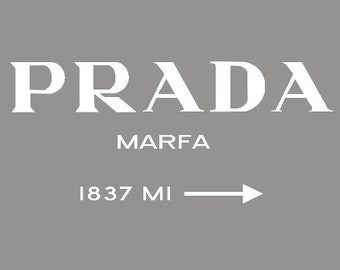 einzigartige artikel zum thema prada marfa canvas etsy. Black Bedroom Furniture Sets. Home Design Ideas
