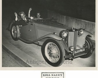 Mel Torme jazz singer with girlfriend in fantastic car automobile antique photo