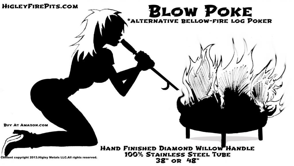 Blow Poke Alternative Fire Pit Poker Mouth Bellows For Easy
