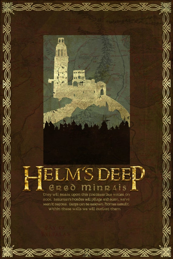 Helm's Deep Travel Poster From The Lord Of The Rings And
