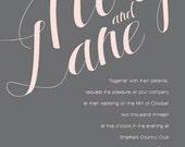 Custom Mint and Gray invitation suite