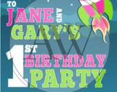 Jane and Gary's Birthday Invitation