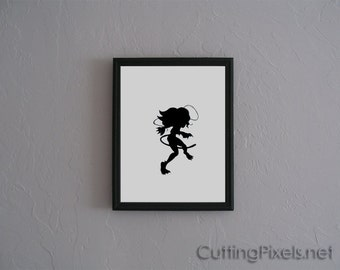 Felicia Marvel vs Capcom  Hand cut paper art black silhouette paper cutting