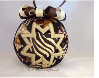Safari Quilted Ornament Zebra (Q119)