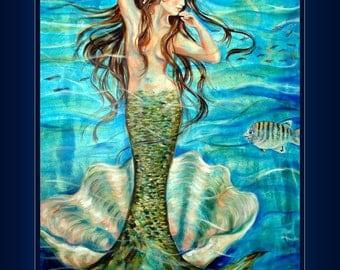 Mermaid art Ivana's Shell