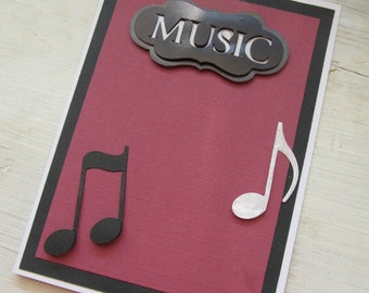 3D Music Card, Any Occasion Card, MADE TO ORDER