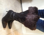 Fur Top Boot Socks Leg Warmers Toppers First Class Mail Shipping