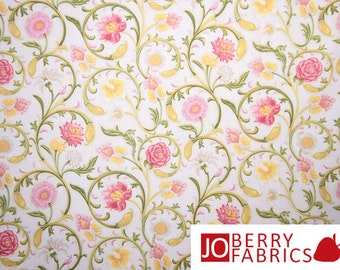 Popular items for victorian fabrics on etsy for Victorian floral fabric