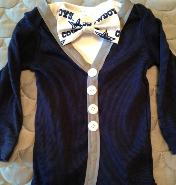 Dallas Cowboys Hipster Toddler or Baby Cardigan by
