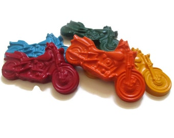 Motorcycle Crayons set of 10 - Party favors