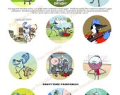 Regular Show Birthday Party Printable Cupcake Topper - Party Printables - Regular Show