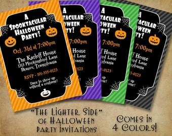 The Lighter Side of Halloween Party Invitation - (DIGITAL FILE ONLY)