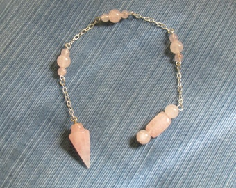 Rose Quartz  & Sterling Silver Pendulum