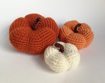 Crochet Pumpkin - Pumpkin - Halloween - Thanksgiving Decor - Holiday Decor - Photo Prop - Fall Decor