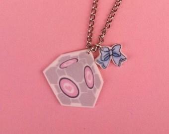 Companion Cube Charm Necklace