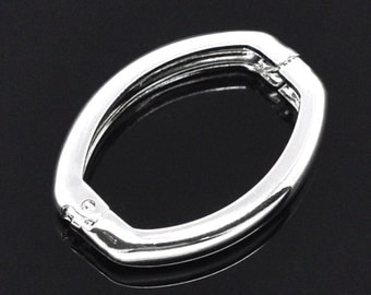 5pcs Silver Plated Necklace Shortener Clasps 27x20mm Jewelry Finding