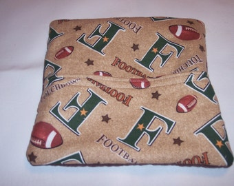 Football, Touchdown, Tortilla Warmer, Microwave Potato Bag, Corn on the Cob Bag, Sweet Potato Cooking Bag