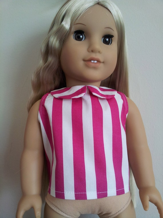 Peter Pan Collar Top for 18 inch dolls such as American Girl, Our Generation and others
