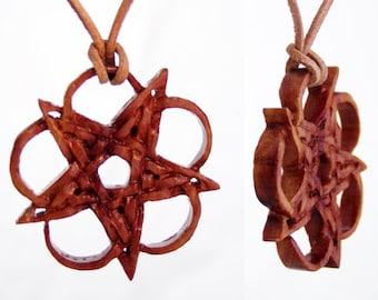 "Pendant made from precious wood ""Pentagram"""