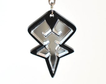 Kingdom Hearts Reflective Mark of Mastery Emblem Necklace or Keychain