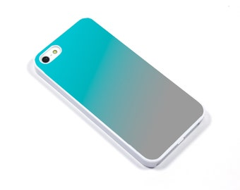 iPhone Case iPhone 5 iPhone 5s iPhone 5C iphone 4 Samsung Galaxy S3 S4 - Ombre turquoise blue silver grey - p17